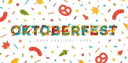 Oktoberfest papercut typography