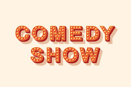 Comedy show lettering