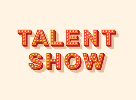 Talent show  lettering 矢量图像