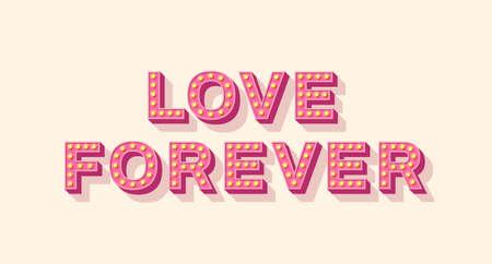 Slogan Love Forever