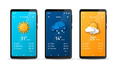Weather forecast widget Ilustração