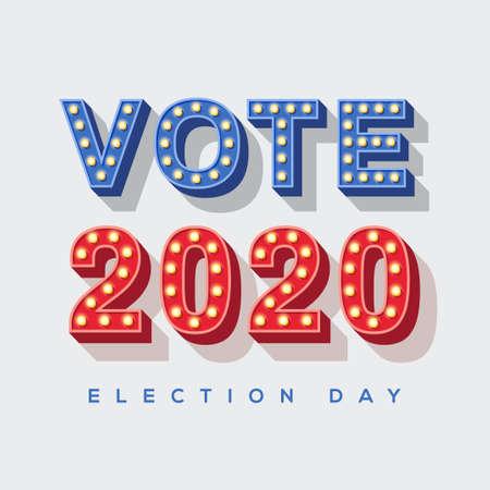 Vote 2020 icon Ilustração