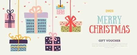 Gift card with boxes Ilustração