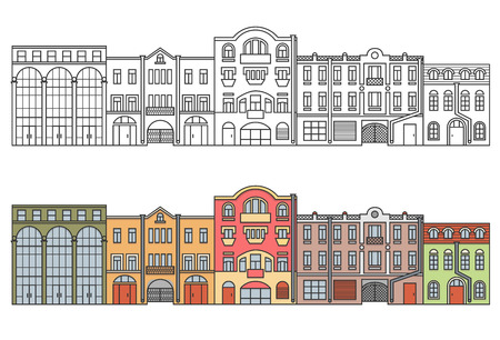 Old Europe city. Street. Vector. EPS 8