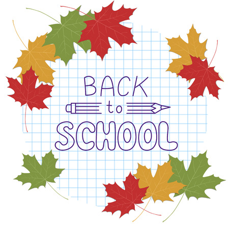 Back to school. Hand drawing lettering.