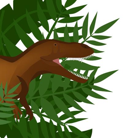 Dinosaur T-Rex. Dino in the jungle Illustration. Vector. EPS 10 向量圖像
