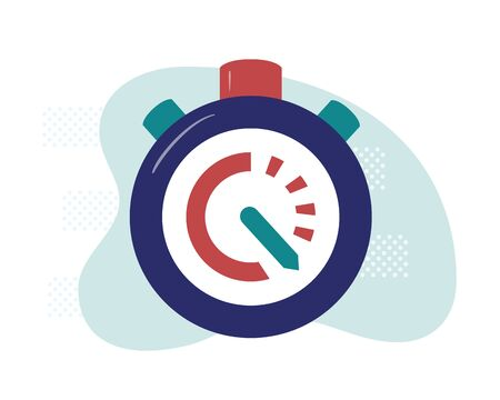 Stopwatch. Deadline time concept. Measurement symbol. Vector illustration in flat and cartoon style. 向量圖像
