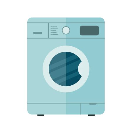 Washing machine. Clothes washer. House equipments. Appliance. Vector illustration in flat style. Isolated.