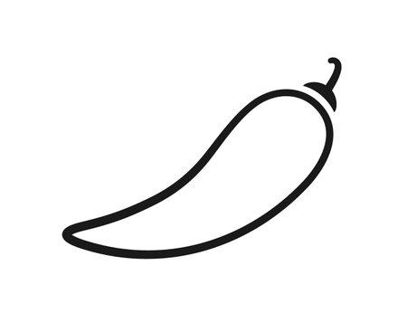 Chili pepper. Chili level black icon. Vector illustration isolated on white background.