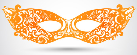 Carnival mask illustration. Vector design element for masquerade. Illustration