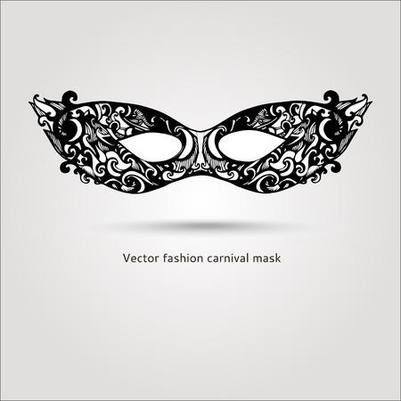 Beautiful fashion vector carnaval mask hand drawn illustration Vector