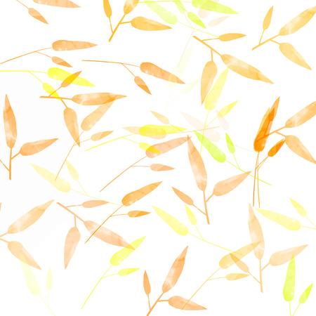 swashes: Orange autumn background with leaves pattern.