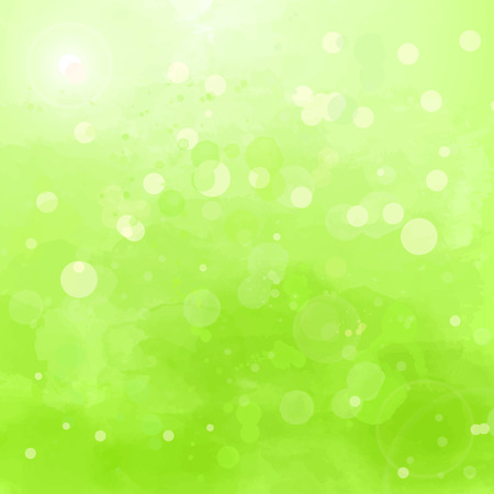 swashes: Abstract green background with watercolor splashes and swashes