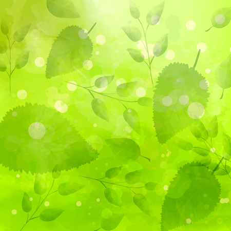 swashes: Green background with different leaves pattern.