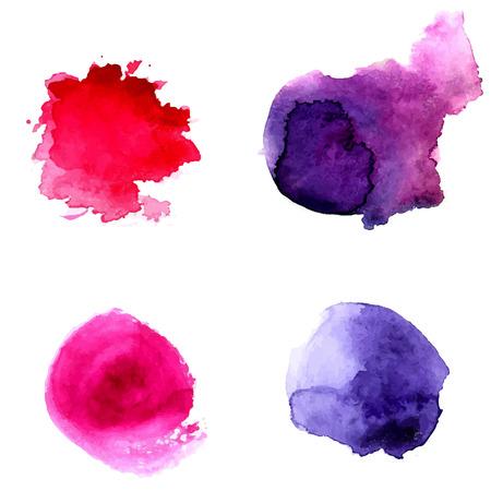 Abstract violet and pink watercolor circles.