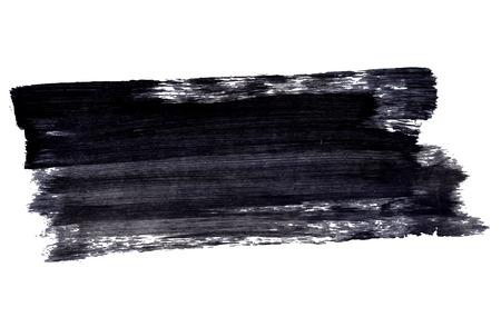 白い背景に分離された黒インク スパッタ ストローク
