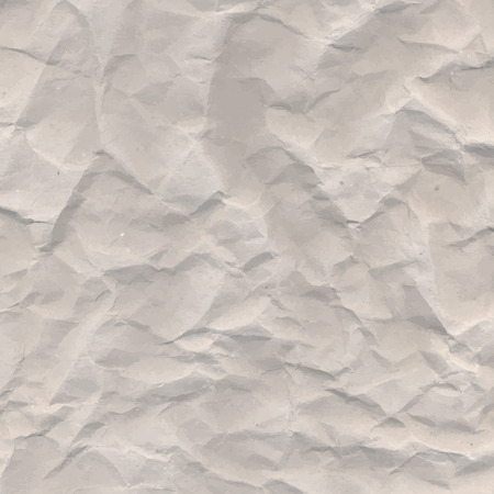 wrinkles: Brown crumpled paper vector texture with wrinkles Illustration