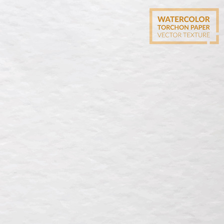 Watercolor torchon paper grainy texture. Vector background