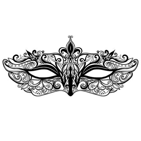Maske-Illustration isoliert auf weißem Hintergrund. Standard-Bild - 35567504