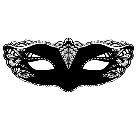 Carnival mask illustration isolated on white background.   イラスト・ベクター素材