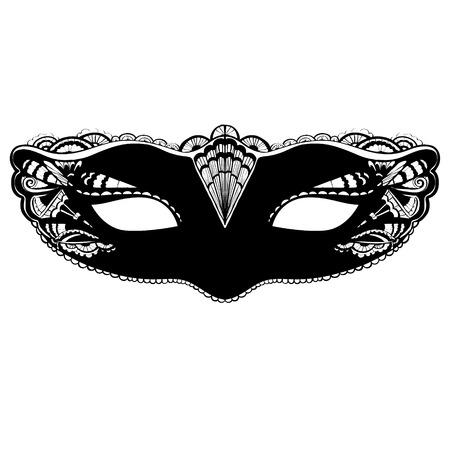 Carnival mask illustration isolated on white background.  Illusztráció