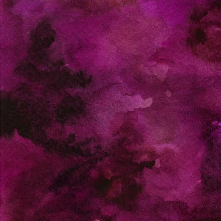 巻きひげで紫色抽象ベクトル水彩テクスチャ