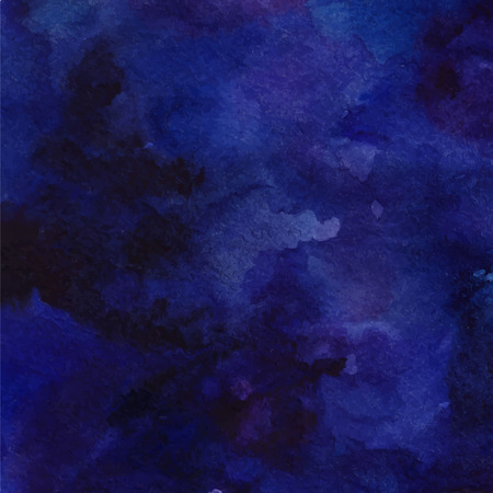 swashes: Watercolor space background. Cosmic backdrop with paint strokes and swashes. Vector texture.