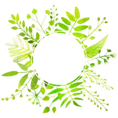 La Primavera Y El Verano Todo El Marco Con Hojas De Color Verde ...