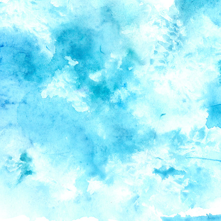 swashes: Watercolor blue sky texture with swashes and stains of paint