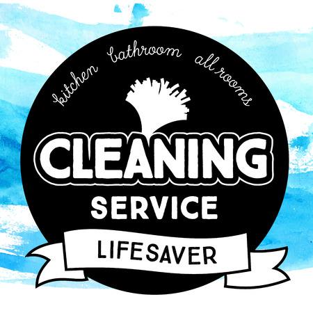 servicio domestico: Placa redonda de la vendimia para el servicio de limpieza con herramienta de soplo de polvo.