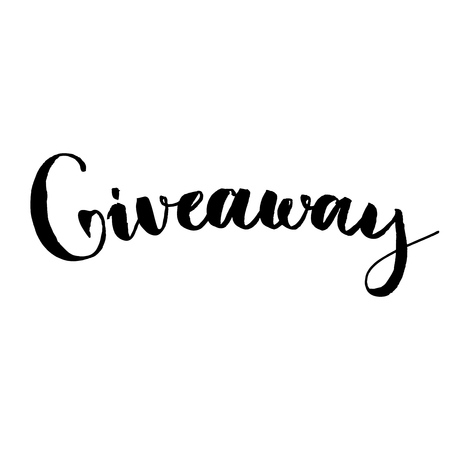 choise: Giveaway banner for social media contests and special offer. Vector hand lettering at background. Modern calligraphy style.