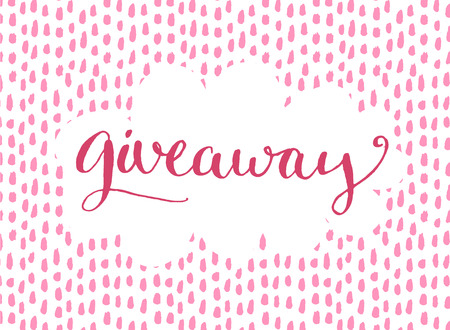 giveaway: Giveaway banner for social media contests and special offer. Vector hand lettering at background. Modern calligraphy style.