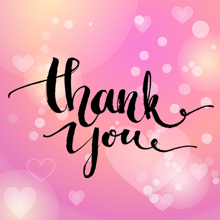 Thank you. Vector typography design for cards, t-shirt, posters and social media content.