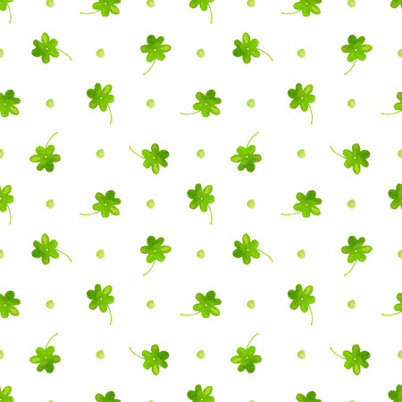 clover backdrop: Clover pattern. watercolor seamless background. Green hand painted leaves for St Patricks day