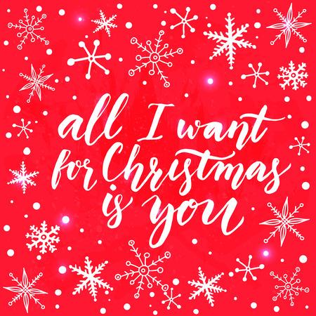 Todo Lo Que Quiero Para Navidad Eres Tu Tarjeta De Felicitacin Con