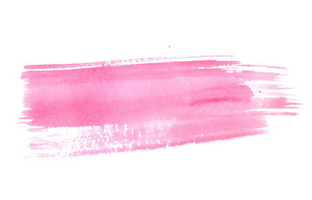 Pastel pink watercolor stroke. Vector paint texture, banner background.