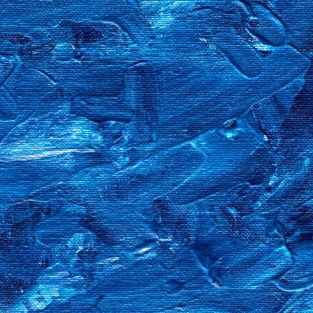 Fondo de la pintura acrílica. Textura de aceite, fondo creativo con pinceladas artísticas. Mezcla de colores azules