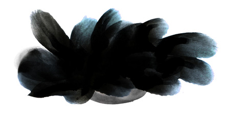 ink stain: Artistic ink stain banner, Black and dark blue paint texture, backdrop for logos and headlines.