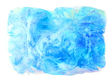 winterly: Winter watercolor background. Hand painted frozen frame with white copyspace. Frost texture