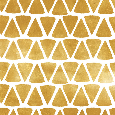 Gold triangle vector texture. Metal painted background with triangular shapes.
