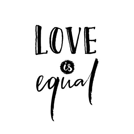 Love Is Equal Romantic Saying Against Discrimination Of Amazing Romantic Saying