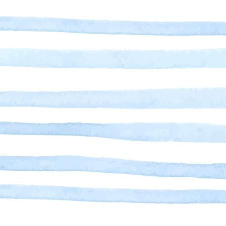 白地にパステル ブルー水彩ストライプ。抽象的なテクスチャです。  イラスト・ベクター素材