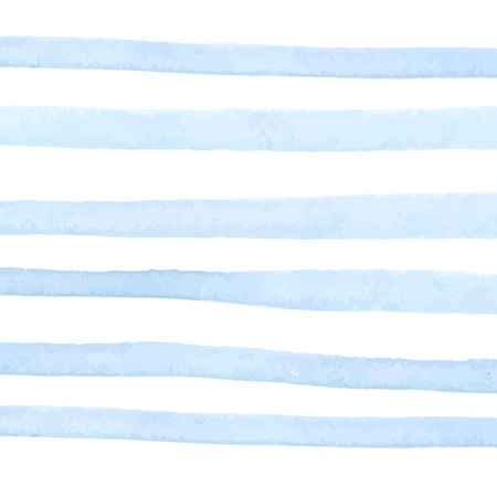 Pastel blue watercolor stripes on white background. Abstract texture.