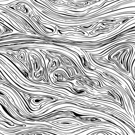 抽象的なライン背景。ベクトル テクスチャ手描画されたインク波状ストローク
