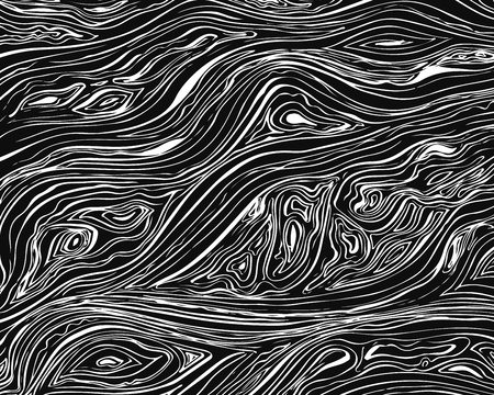 Line background. Vector texture with hand drawn ink wavy strokes. Monochrome backdrop