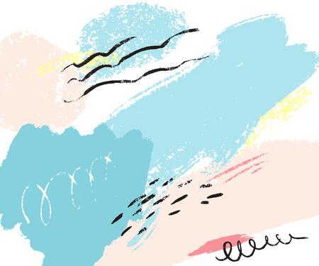 Abstract paint illustration. Illustration