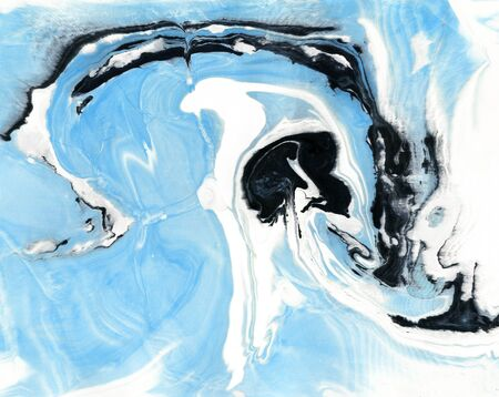 Abstract marble texture. Paper and mix of flowing ink. Stock Photo