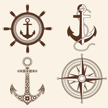 rudder ship: set on the marine theme