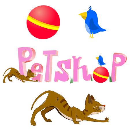 petshop: petshop logo.design elements in vector