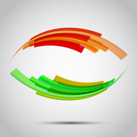 green line: colorful abstract background.Design element in vector. Illustration